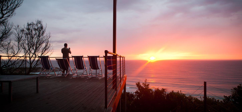 Sunset Bay of Fires Lodge Tasmania sunrise