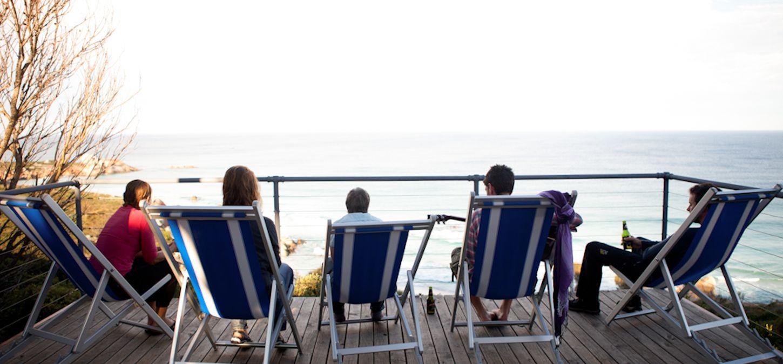 Sunset Bay of Fires Lodge Tasmania Group travel