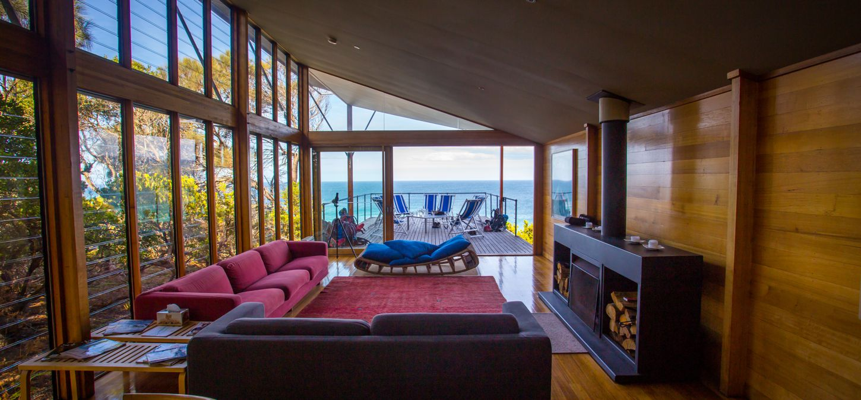 Bay of Fires Lodge Tasmania lounge