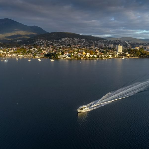 Boat Leaving Hobart