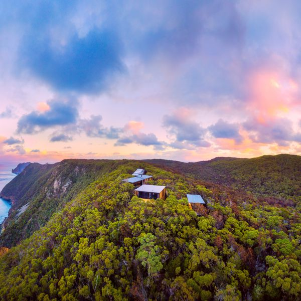 Sunset At Cape Pillar Lodge_Three Capes Lodge Walk_Credit_Luke Tscharke